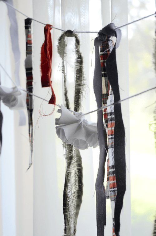 fall fabric garland (via fineandfeathered)