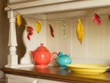 fall leaves and twigs garland