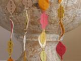 felt fall garland to make with kids