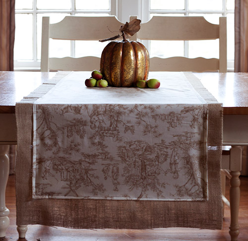 toile fall table runner