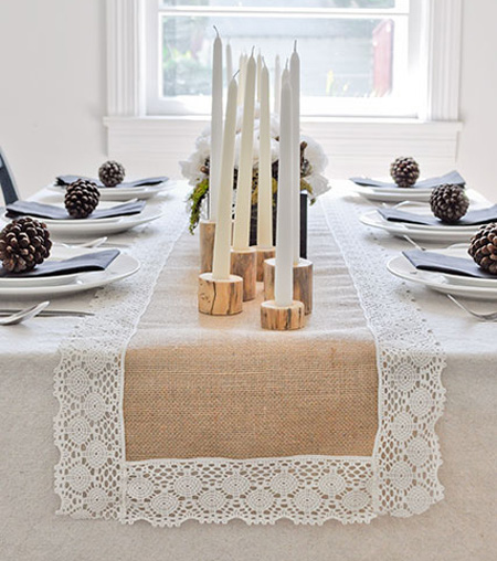 Runners runner Fall burlap wedding Cool diy 17  DIY Table Shelterness table