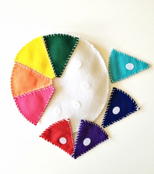 Cool DIY Felt Wheel To Teach Kids Colors