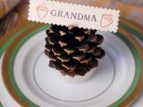 pinecone fire starter place holders