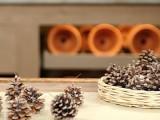 raffia pinecone fire starter