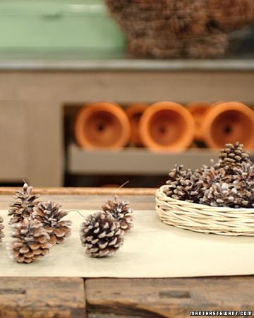 raffia pinecone fire starter (via marthastewart)