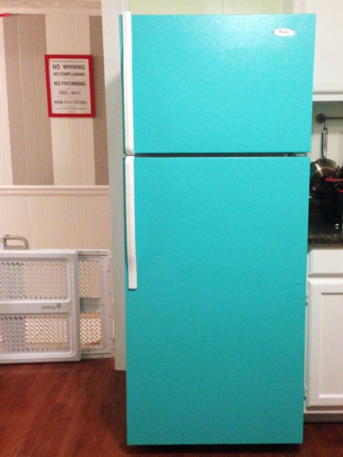 painted fridge (via cozycrookedcottage)