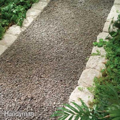 gravel pathway (via familyhandyman)