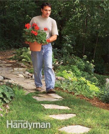 stepping stones path (via familyhandyman)