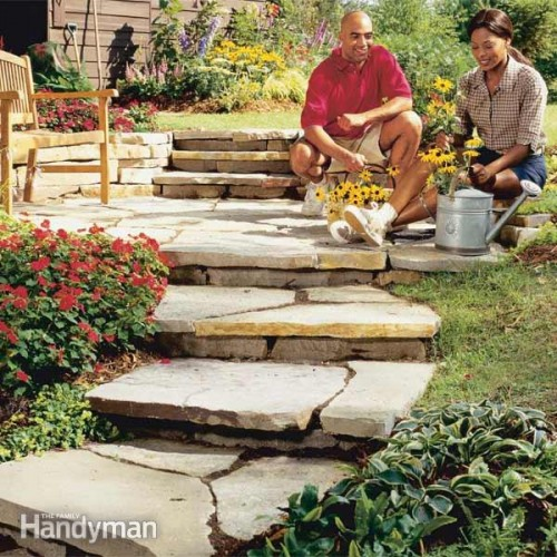 stone stepping garden path