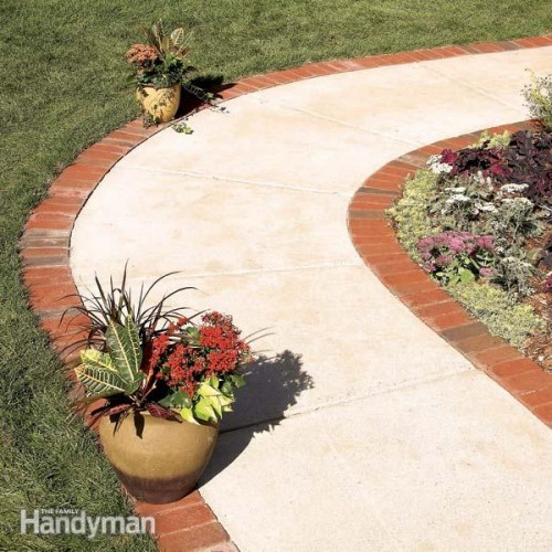 brick borders path (via familyhandyman)