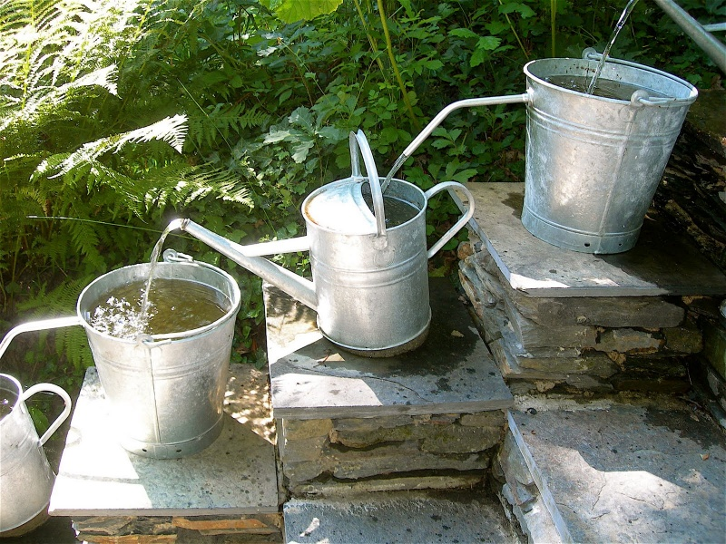 Picture Of Cool Diy Garden Water Feature