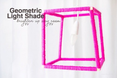 Cool Diy Geometric Neon Lampshade