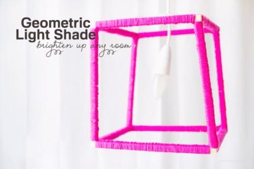 Cool DIY Geometric Neon Lampshade
