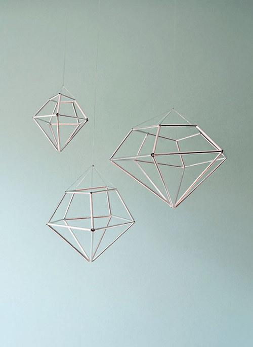 13 Cool DIY Geometrical Ornaments For Christmas