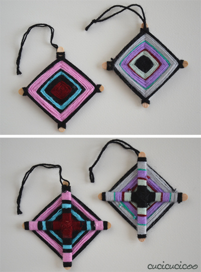 woven Christmas ornament (via cucicucicoo)