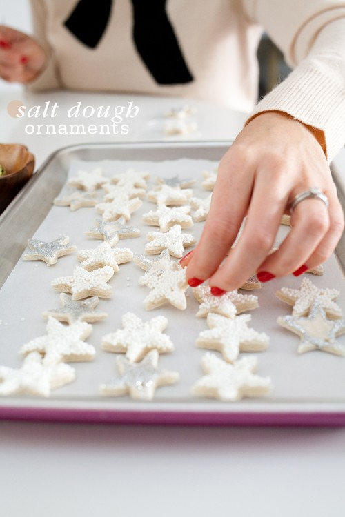 salt dough star ornaments (via freutcake)