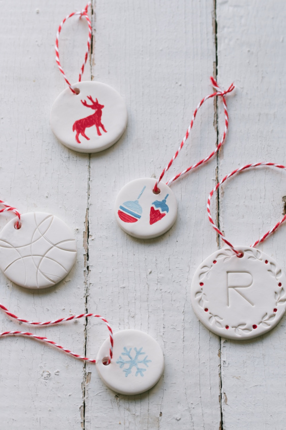 Picture Of cool diy gift tags and ornaments from clay  1