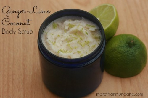 lime coconut and ginger body scrub (via morethanmundane)