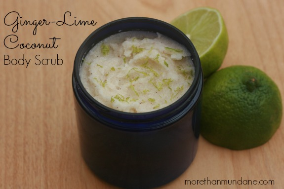 lime coconut and ginger body scrub
