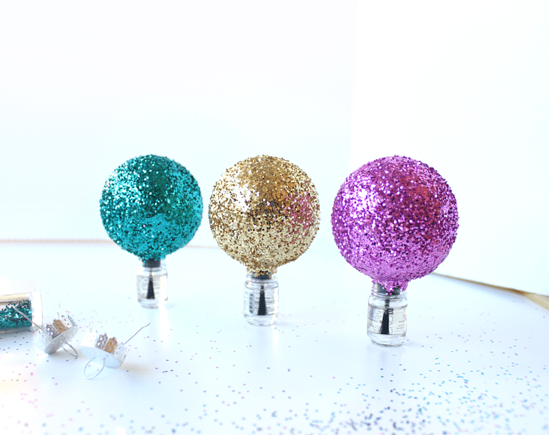 Picture Of cool diy glittery ornaments for christmas  5