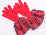 gloves with fabric