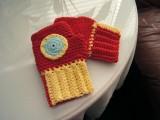 Iron Man crocheted gloves