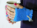 vintage fingerless gloves