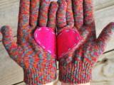 felt heart gloves