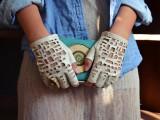Chanel cutout gloves
