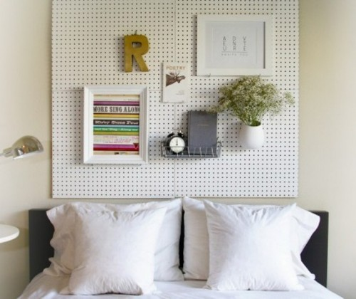 pegboard for useful accessories (via shelterness)