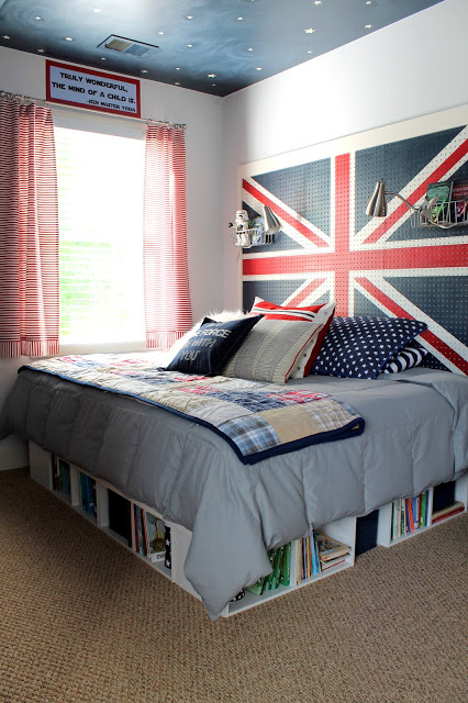 Union Jack pegboard (via ourfifthhouse)