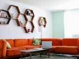 Cool Diy Honeycomb Shelves
