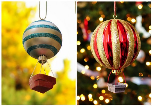 Cool DIY Hot Air Balloon Christmas Ornaments