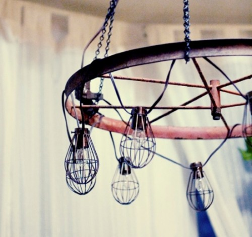 15 Cool DIY Industrial Lamps And Chandeliers