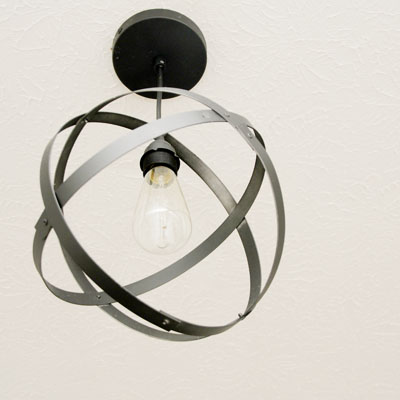 15 cool diy industrial lamps and chandeliers shelterness - Diy industrial chandelier ...