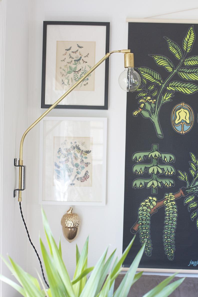 brass swing lamp