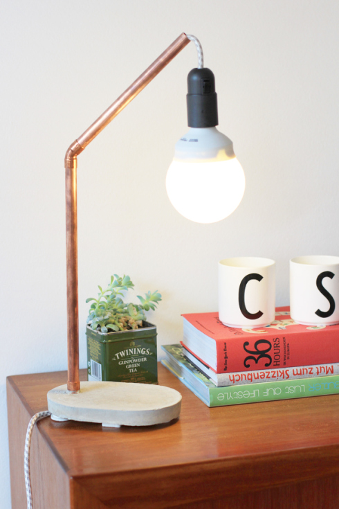 Best copper tube lamp via look what i made
