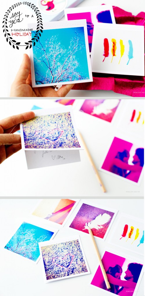 Cool DIY Instacards For Holiday Gifts