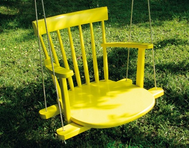 Cool DIY Kids Swing From An Old Rocking Chair