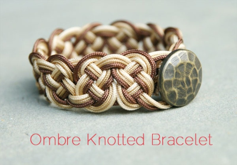 Picture Of cool diy knotted bracelet 1