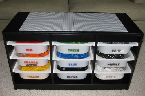 DIY Lego Storage IKEA Hack (via scrapbookofsorts)