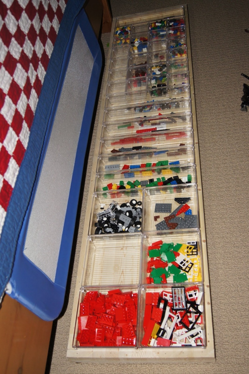 Picture of cheap diy lego organizer for Cool diy storage ideas