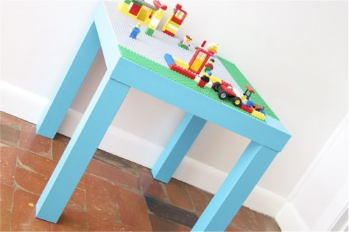 DIY Lego Kids Play Table And Storage Place