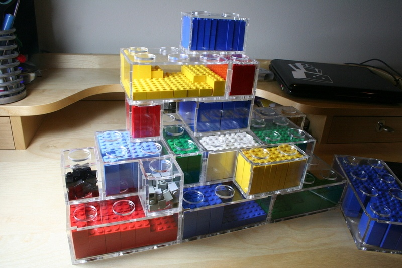 Picture of modular diy lego storage for Cool diy storage ideas