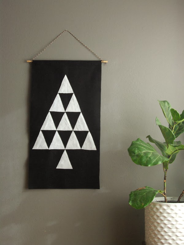 Picture of felt triangle tree pendant for Diy modern christmas decorations