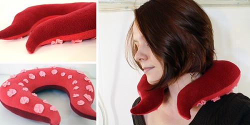 tentacle neck pillow (via tallystreasury)