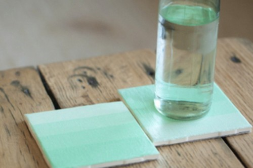cool diy ombre tile coasters shelterness