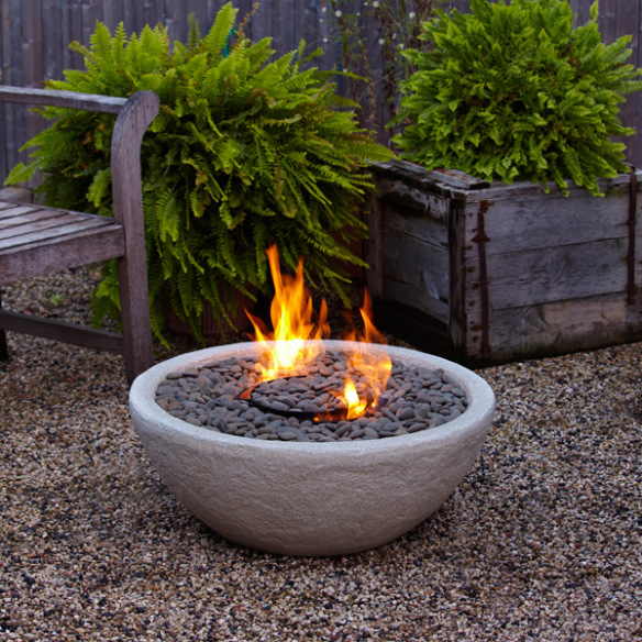 fire bowl of a piece of pottery