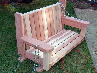 freestanding arbor swing