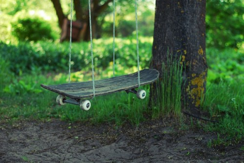 skateboard swing (via blog)